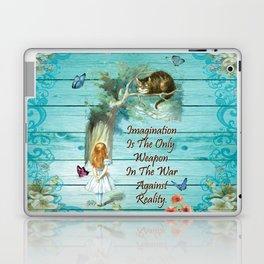 Floral Alice In Wonderland Quote - Imagination Laptop & iPad Skin