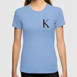 K. - Distressed Initial T-shirt