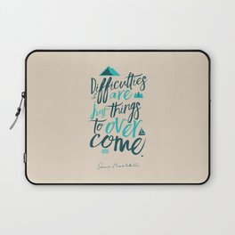 Shackleton quote on difficulties, illustration, interior design, wall decoration, positive vibes Laptop Sleeve