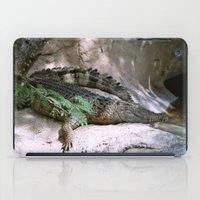 crocodile iPad Cases featuring crocodile by lennyfdzz