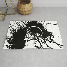 Form Out Of Chaos - Black and white conceptual abstract Rug