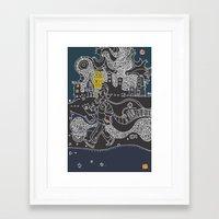 kieren walker Framed Art Prints featuring Walker by inktheboot