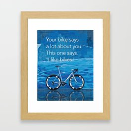Ritte - I like Bikes Framed Art Print