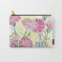 Pink Carnations, Still Life Carry-All Pouch