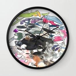 coloured splotches Wall Clock