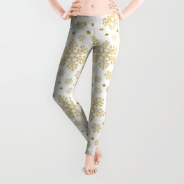 Golden snowflakes Leggings
