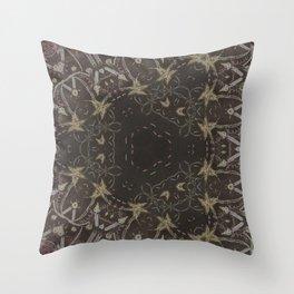 elegant etnic geometric school candle autumn halloween Throw Pillow