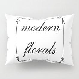 modern florals and arrows pillow sham