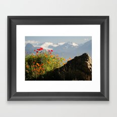 Springtime in the Mountains, Homer, Alaska Framed Art Print