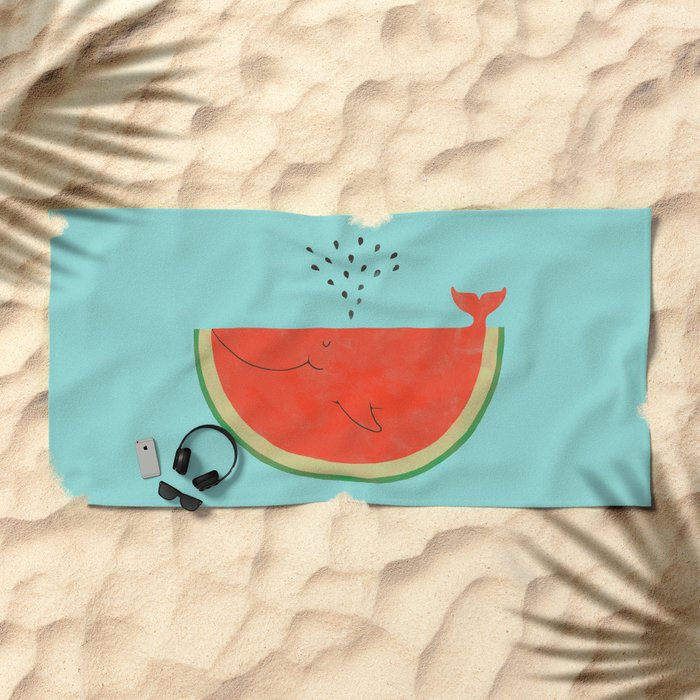 Don't let the seed stop you from enjoying the watermelon Beach Towel