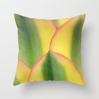 stained glass Throw Pillows featuring Stained Glass by Irina Wardas