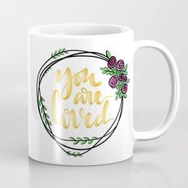 You are loved - wreath Coffee Mug