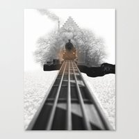 bass Canvas Prints featuring bass by Ilenia Locci