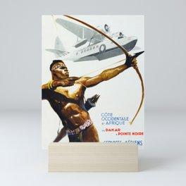 Aeromaritime - Vintage Africa Travel Poster Mini Art Print