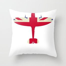 Airplane Pilot Fighter Steel Wings Throw Pillow