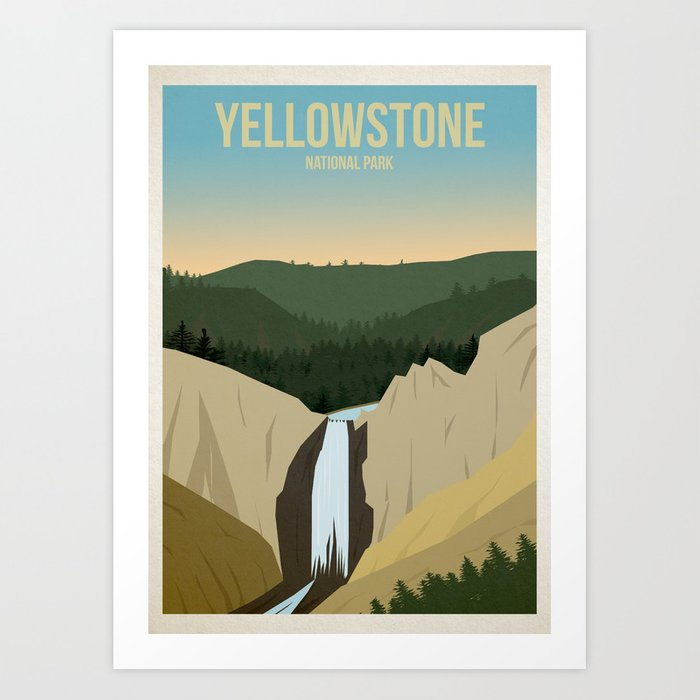 Yellowstone National Park Kunstdrucke