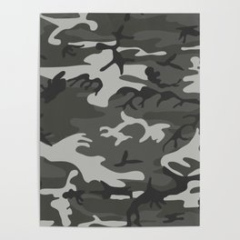 Camouflage Pattern Snow Poster