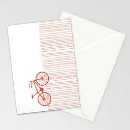 Red Bike by Friztin Stationery Cards
