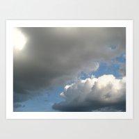 Clouds! Art Print