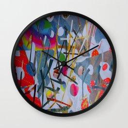 Abstract - Hawaiian Botanical Garden 1 Wall Clock
