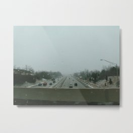 Winter Overpass Metal Print