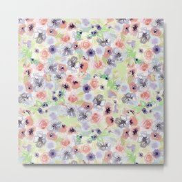 Wildflower Pattern - little flowers Metal Print