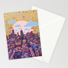 austin texas city skyline Stationery Cards