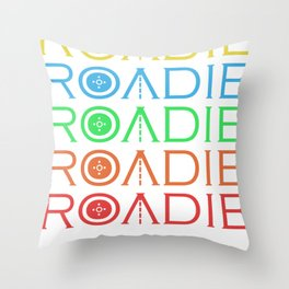Roadie Band Musicband Concert Tour Gift Throw Pillow