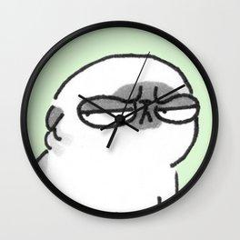 Mochi the pug giving the stink eye Wall Clock
