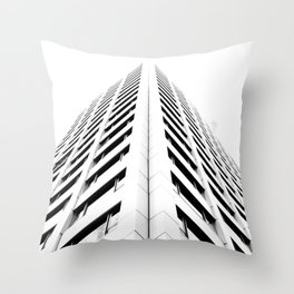 Keep Your Aim High (White Symmetry) Throw Pillow