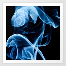 Blue Smoke Art Print
