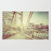 nashville Area & Throw Rugs featuring Nashville by GF Fine Art Photography