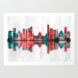 Kolkata West Bengal Skyline Art Print