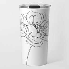 Single flower line drawing - Hazel Travel Mug