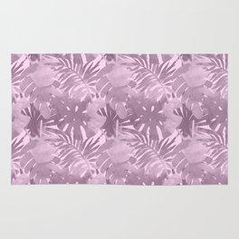 lilac palms Rug