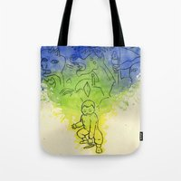 picasso Tote Bags featuring Picasso  by Magen Works