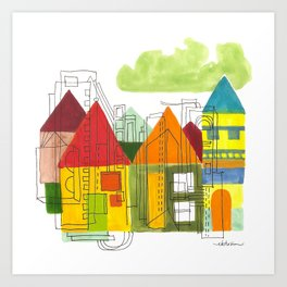 Little Block Town Art Print