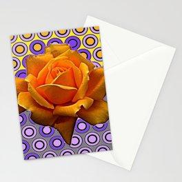 GOLDEN GARDEN ROSE MODERN ABSTRACT Stationery Cards
