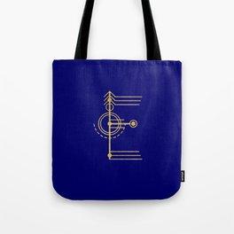 Sacred Geometry Letter E Tote Bag