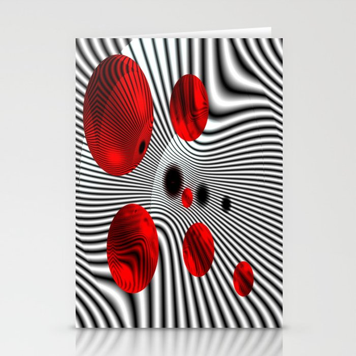 Vision in Red Stationery Cards