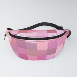 Lovely Pink Geometric Squares Pattern Fanny Pack