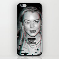 lindsay lohan iPhone & iPod Skins featuring lYNDSAY lOHAN IS better THAN you by Tiaguh