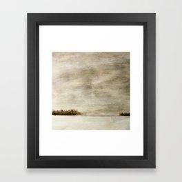 winter prairie Framed Art Print