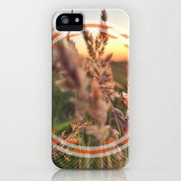 Peel Sunset lll - orange circle graphic iPhone Case