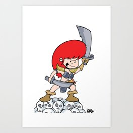 Red Gilly! Art Print