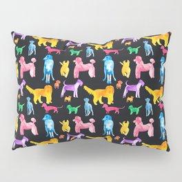 Happy Dogs On Black Pillow Sham