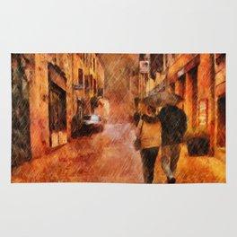 A Walk In The Rain by Liane Wright Rug