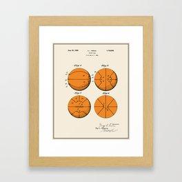 Basketball Patent - Colour Framed Art Print
