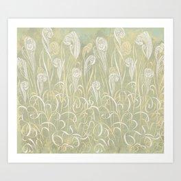 Winter Sage Grass Art Print