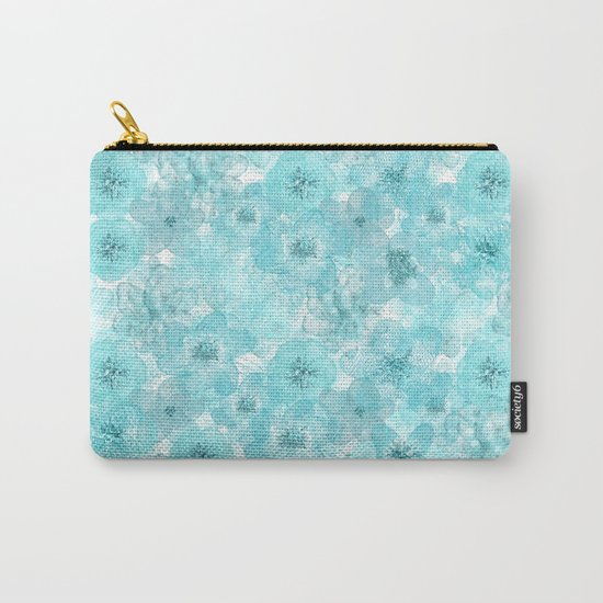 Turquoise aqua flower lace pattern on #Society6 Carry-All Pouch